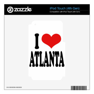I Love Atlanta iPod Touch 4G Skins