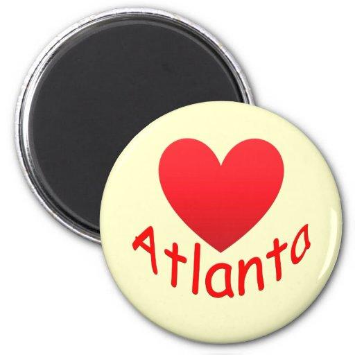I Love Atlanta Refrigerator Magnets