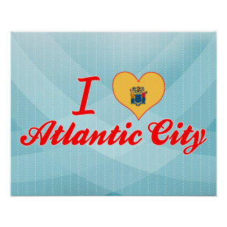 I Love Atlantic City, New Jersey Print