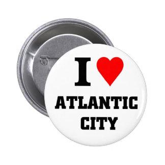 I love Atlantic City Pinback Button