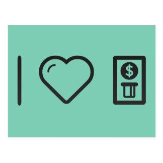 I Love ATM Machines Postcard