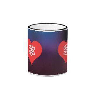 I Love Atomic Bomb Design Ringer Coffee Mug