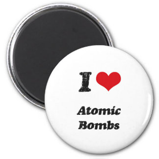I Love Atomic Bombs Refrigerator Magnets