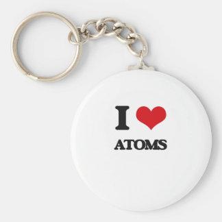 I Love Atoms Keychains