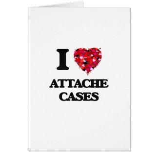 I Love Attache Cases Greeting Card