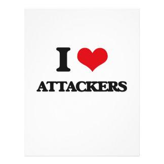 I Love Attackers Flyer Design