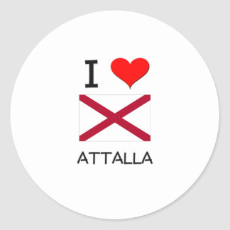 I Love ATTALLA Alabama Stickers