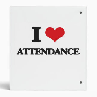 I Love Attendance Vinyl Binder