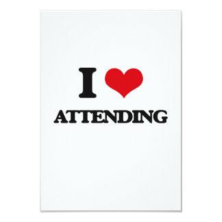 I Love Attending 3.5x5 Paper Invitation Card