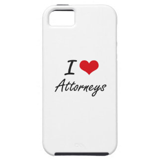 I Love Attorneys Artistic Design iPhone 5 Cover