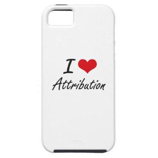 I Love Attribution Artistic Design iPhone 5 Cover