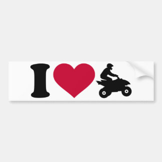I love ATV Quad Bumper Sticker