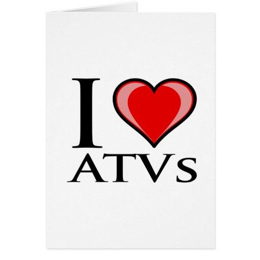I Love ATVs Card