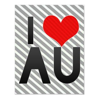 I Love AU 4.25x5.5 Paper Invitation Card
