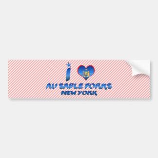 I love Au Sable Forks, New York Bumper Sticker