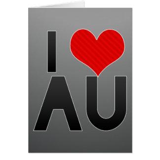 I Love AU Stationery Note Card