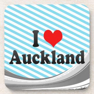 I Love Auckland, New Zealand Beverage Coasters