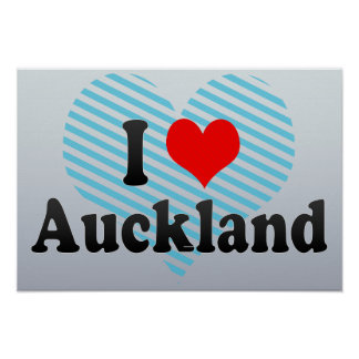 I Love Auckland, New Zealand Poster