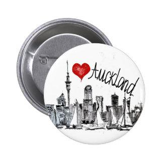 I love Auckland Pinback Button