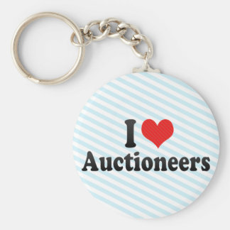 I Love Auctioneers Keychains