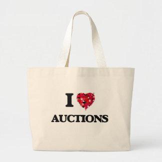 I Love Auctions Jumbo Tote Bag