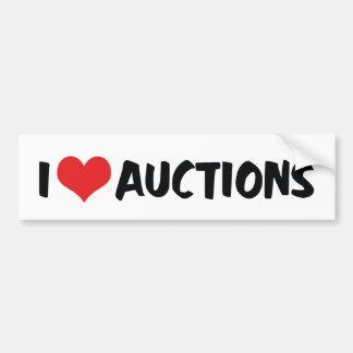 I Love Auctions Bumper Sticker Car Bumper Sticker
