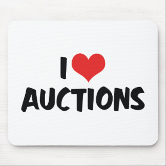 I Love Auctions Mouse Pad