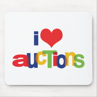 I Love Auctions Mouse Pads