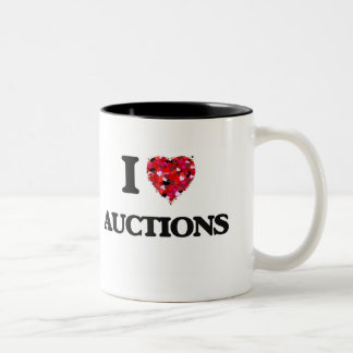 I Love Auctions Two-Tone Coffee Mug