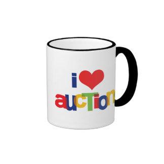 I Love Auctions Ringer Mug