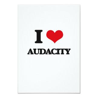 I Love Audacity Personalized Invitation Cards