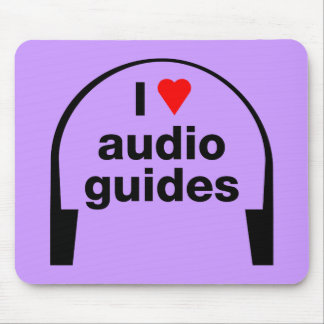 I Love Audio Guides Mouse Pad