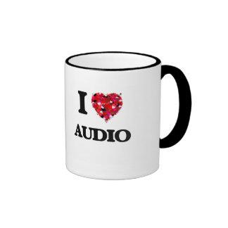 I Love Audio Ringer Coffee Mug