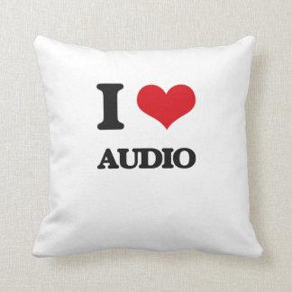 I Love Audio Throw Pillow