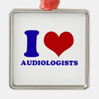 I love audiologists design metal ornament