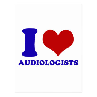 I love audiologists design postcard