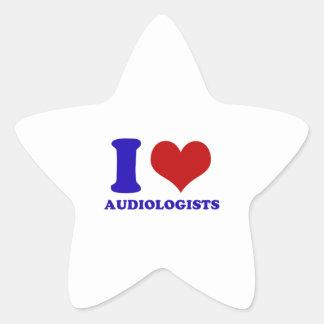 I love audiologists design star sticker