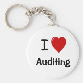 I Love Auditing - I Heart Auditing Basic Round Button Keychain