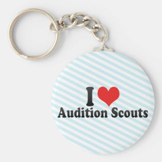I Love Audition Scouts Keychain