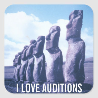 I Love Auditions Square Sticker