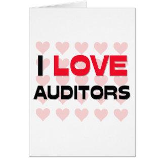 I LOVE AUDITORS CARD