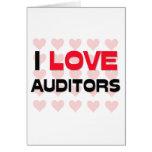 I LOVE AUDITORS GREETING CARD