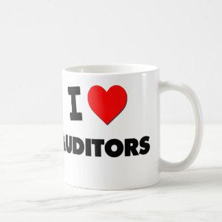 I Love Auditors Classic White Coffee Mug