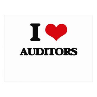 I Love Auditors Postcard