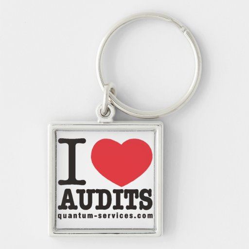 I Love Audits Keychain