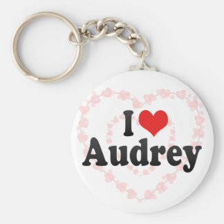 I Love Audrey Keychain