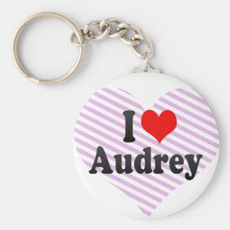 I love Audrey Key Chain