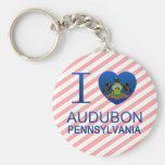 I Love Audubon, PA Keychains