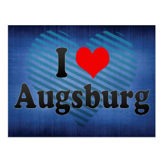 I Love Augsburg, Germany Postcard