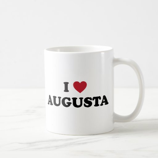 I Love Augusta Georgia Coffee Mugs